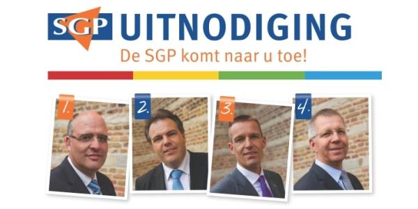 De SGP komt naar u toe!