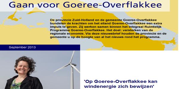 Directeur Deltawind in Nieuwsbrief Gaan voor Goeree-Overflakkee