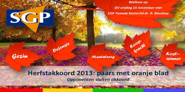[Uitnodiging] Herfstakkoord 2013: Paars met oranje blad