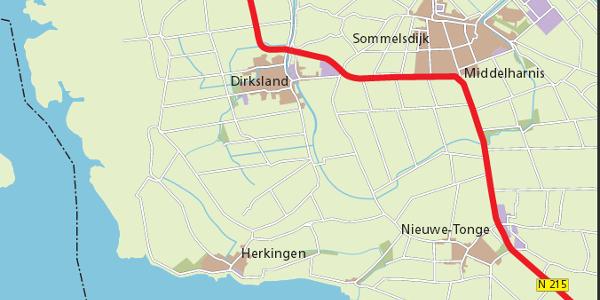 Informatiebijeenkomst voorlopig ontwerp N215 tussen Dirksland en N59