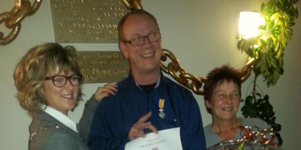Brandweerman M.W. Struik ontvangt Koninklijke Onderscheiding