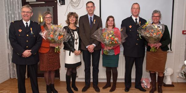 Drie Koninklijke Onderscheidingen voor Sommelsdijkse brandweermannen