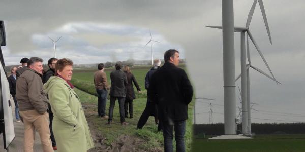 Raadsleden op excursie over windenergie