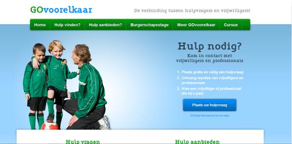 GOvoorelkaar opent  vrijwilligersplatform