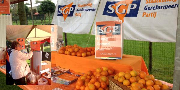 SGP-fractie in actie op Mekkerstee Ouddorp