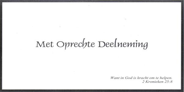 Voormalig raadslid/wethouder J.H. Koppelaar overleden