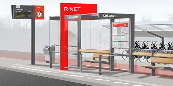 Werkzaamheden haltes voor R-net bussen Goeree-Overflakkee
