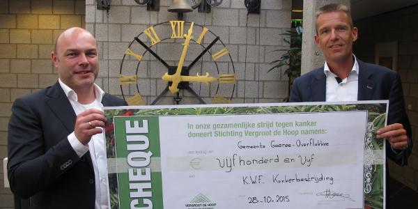 Gemeente Goeree-Overflakkee doneert opbrengst taxussnoeisel aan KWF Kankerbestrijding