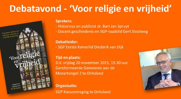 Debatavond – 'Voor religie en vrijheid'