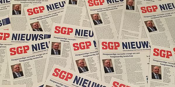 Huis-aan-huis uitgave SGP Nieuws