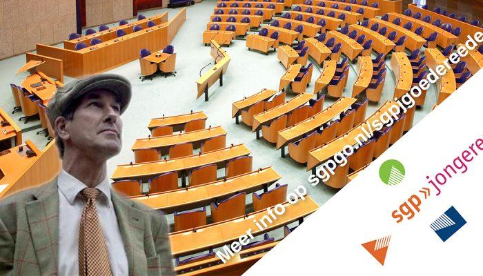 SGP-er Menno de Bruyne spreekt in Ouddorp
