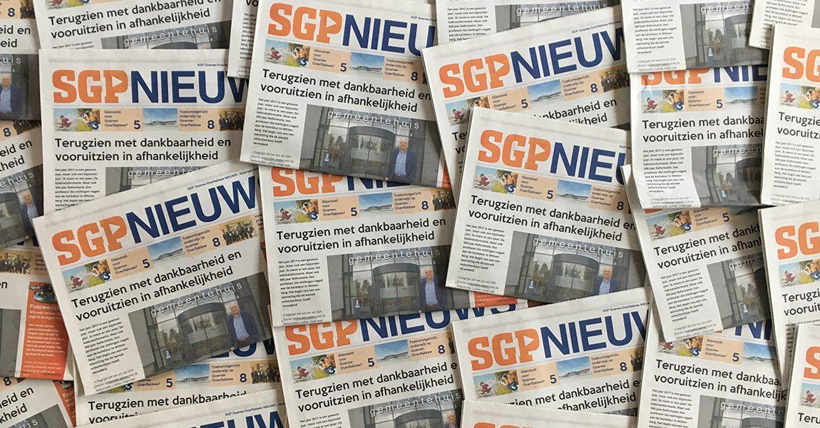 SGP NIEUWS huis-aan-huis editie