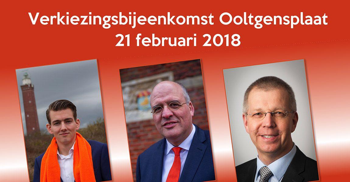 Verkiezingsbijeenkomst Ooltgensplaat