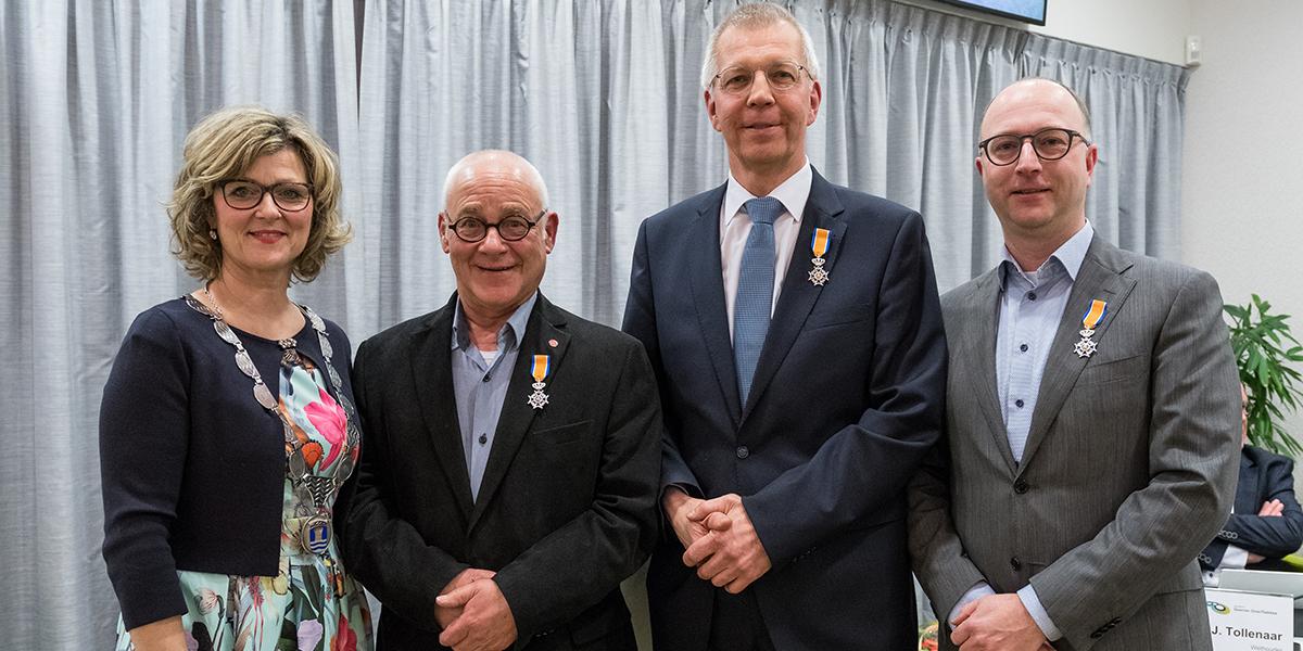 Drie koninklijke onderscheidingen voor oudgedienden
