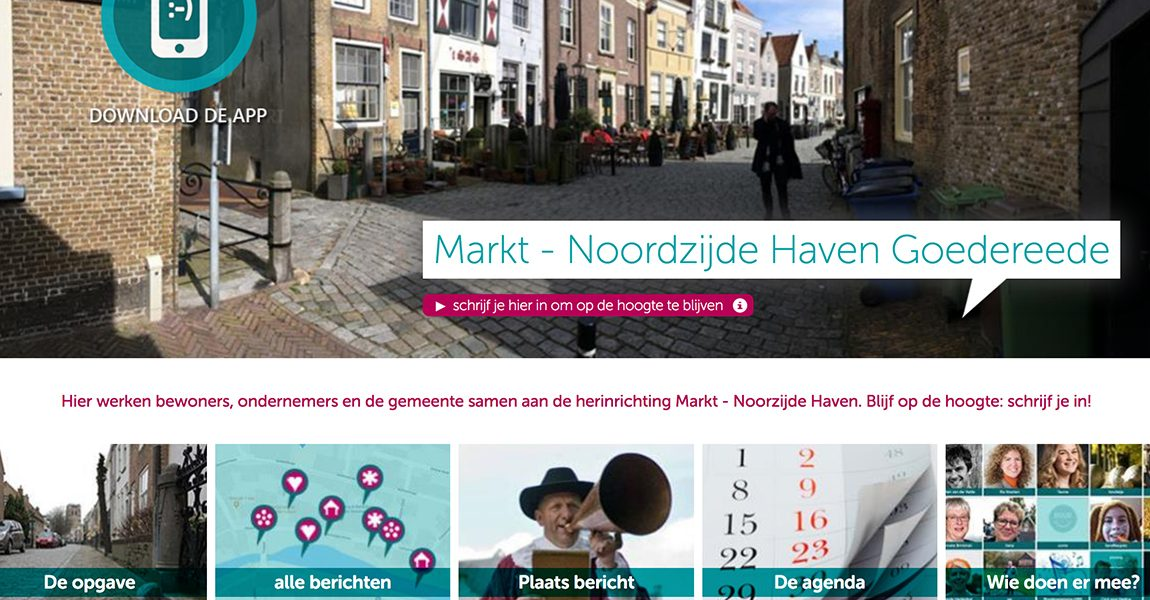 Herinrichting Markt en Noordzijde haven Goedereede