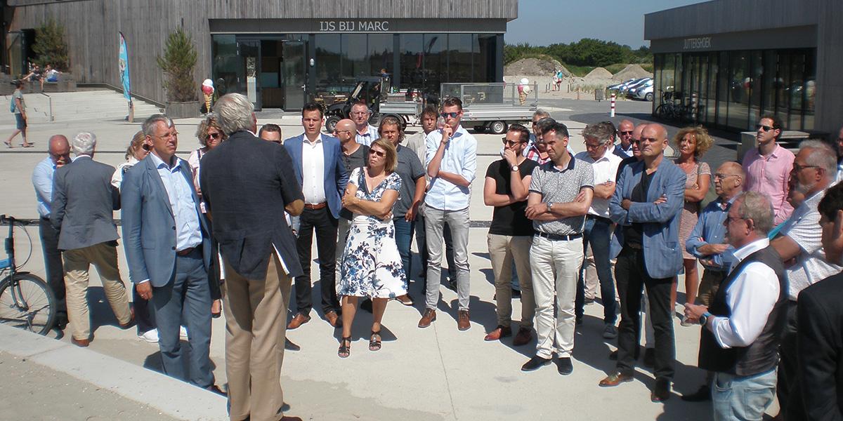 Gemeentebestuur Katwijk bezoekt Kop van Goeree