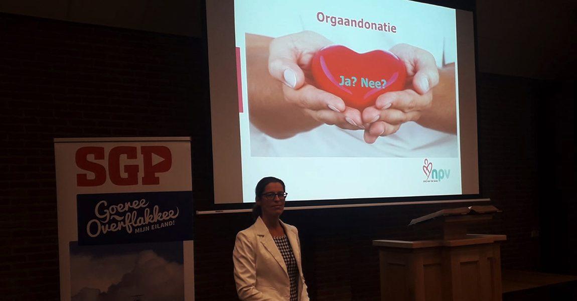 Druk bezochte SGP-infoavond over Orgaandonatie