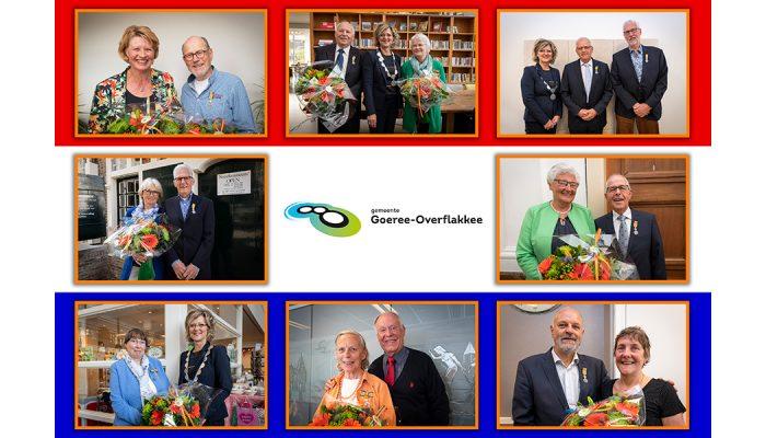 Koninklijke onderscheiding voor elf inwoners van Goeree-Overflakkee tijdens de Lintjesregen