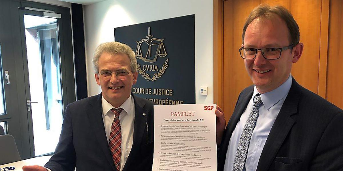 SGP wil dat kabinet pulsverbod aanvecht bij Europees Hof