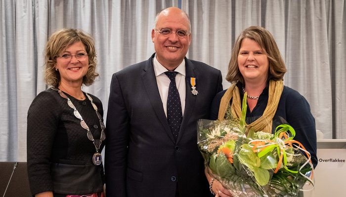 Raadslid Kees van Dam uit Middelharnis benoemd tot Lid in de Orde van Oranje-Nassau