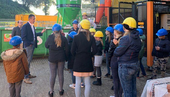 Basisscholen Ooltgensplaat maken kennis met restauratiewerkzaamheden op Fort Prins Frederik