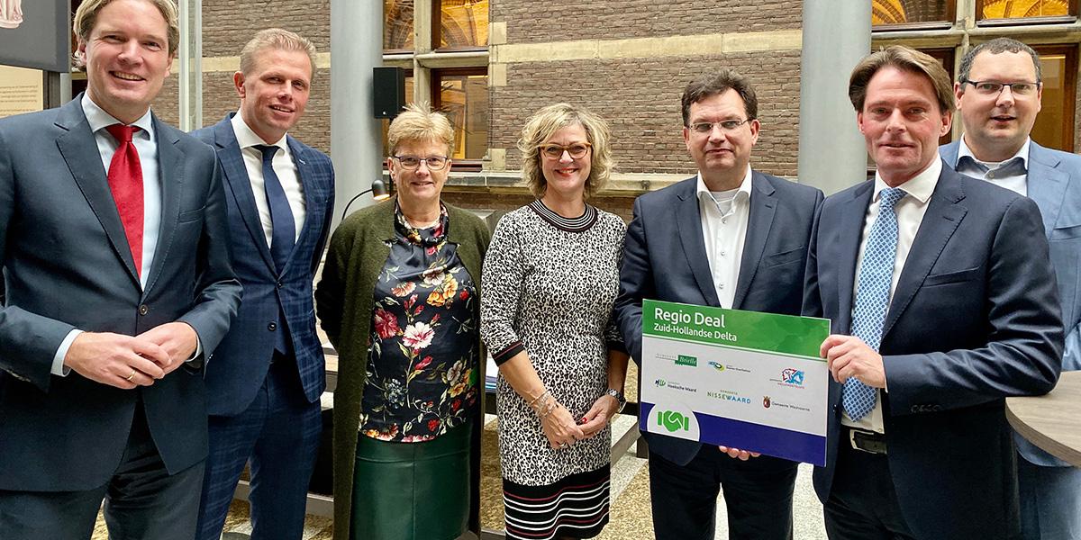 Regio Deal Zuid-Hollandse Delta aangeboden aan Tweede Kamer
