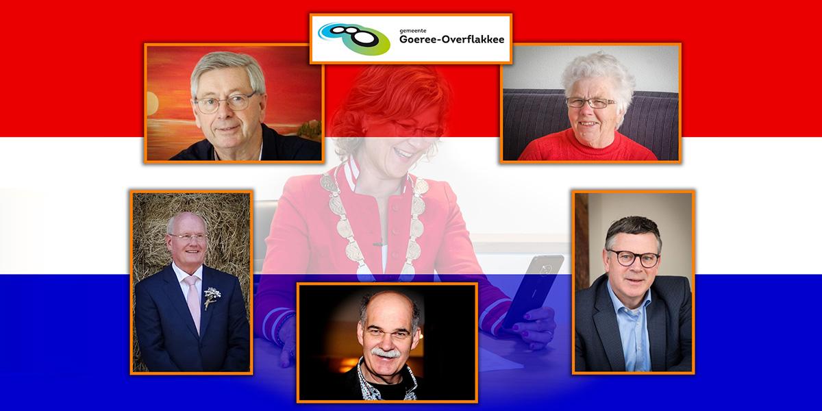 Koninklijke onderscheiding voor vijf inwoners van Goeree-Overflakkee tijdens de Lintjesregen