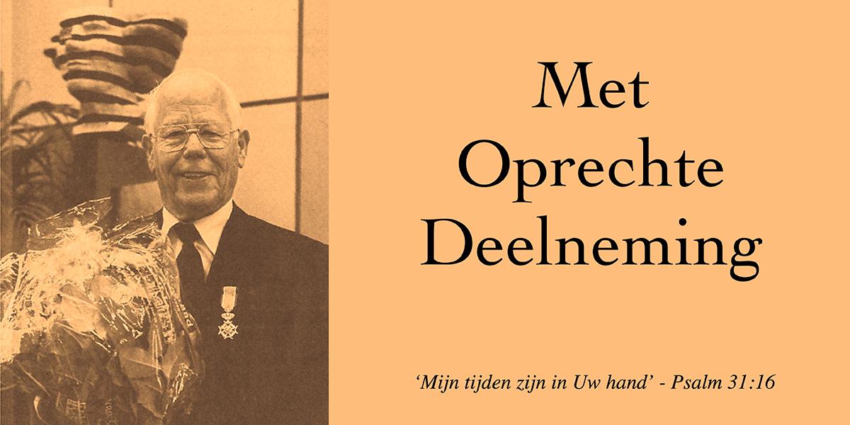 Voormalig SGP-raadslid Klaas van de Ketterij overleden