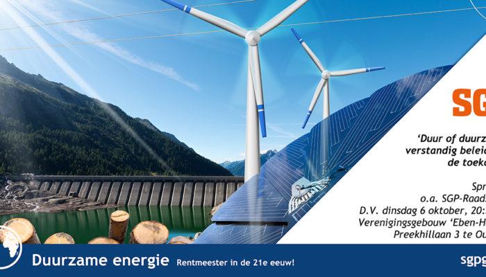 Welkom op SGP bijeenkomst over duurzaamheid!