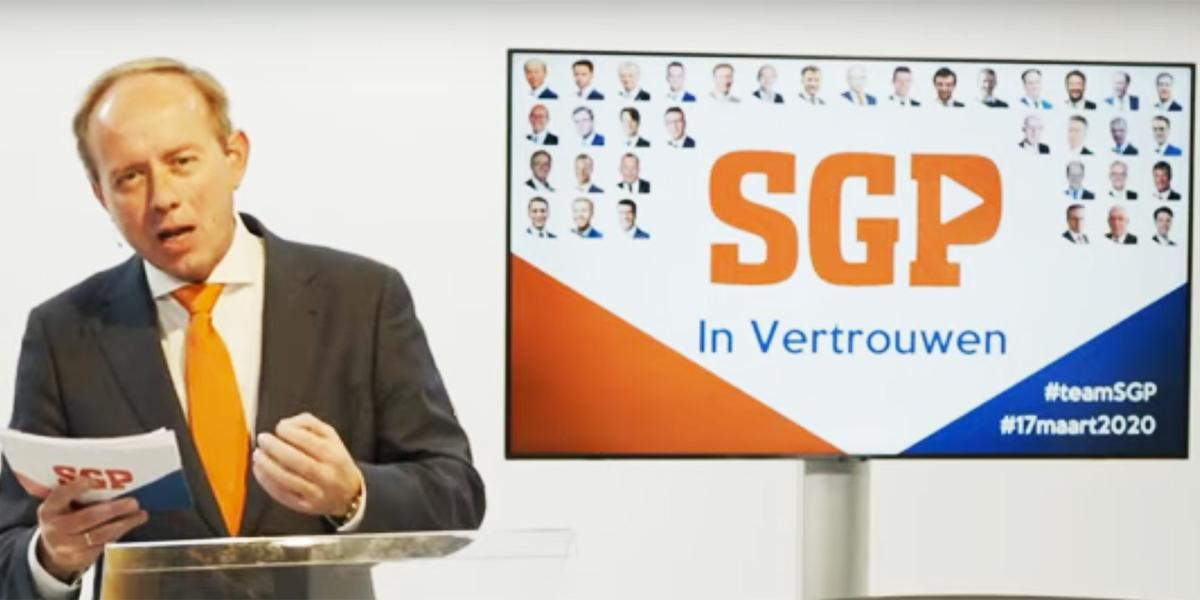 SGP Tweede Kamer kandidatenlijst en programma gepresenteerd