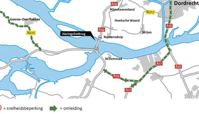 Maatregelen Haringvlietbrug 2 weken uitgesteld