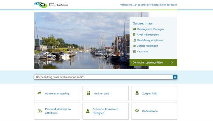 Gemeente Goeree-Overflakkee lanceert nieuwe website